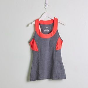 MPG Gray and Red athletic tank top